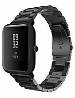 cheap -Smartwatch band bracelet compatible with amazfit bip younth bracelet, business bracelet solid stainless steel with quick release fastener, compatible with amazfit bip younth / bip youth edition / gts