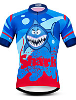 cheap -21Grams Men's Short Sleeve Cycling Jersey Summer Spandex Polyester Red+Blue Bike Jersey Top Mountain Bike MTB Road Bike Cycling Quick Dry Moisture Wicking Breathable Sports Clothing Apparel