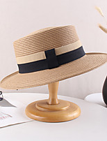 cheap -Vintage Style Elegant Straw Hats / Headwear / Straw Hats with Split Joint / Trim / Color Block 1 PC Casual / Holiday Headpiece