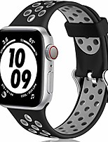 cheap -smartwatch band replacement strap compatible with apple watch strap 44mm 40mm 38mm 42mm, silicone soft sport band compatible for iwatch strap series 6 se 3 5 4 2 1, 38mm / 40mm m / l black / gray