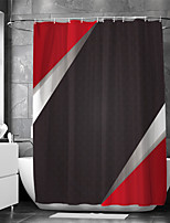 cheap -Waterproof Fabric Shower Curtain Bathroom Decoration and Modern and Geometric