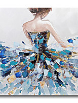 cheap -Oil Painting Handmade Hand Painted Wall Art Figure Portrait Dancer Girls Lady Home Decoration Dcor Stretched Frame Ready to Hang