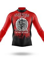cheap -21Grams Men's Long Sleeve Cycling Jersey Spandex Polyester Red Bike Jersey Top Mountain Bike MTB Road Bike Cycling Quick Dry Moisture Wicking Breathable Sports Clothing Apparel / Athleisure