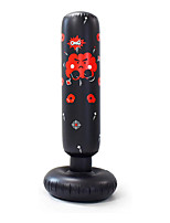 cheap -Kid's Target Inflatable Punching Bag,Blow Up Tumbler for Kids, Bounce-Back Bop Bag for Play, Boxing, Karate, Anger Management (Black)