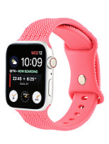 cheap -Smart Watch Band for Apple iWatch 1 pcs Sport Band Silicone Replacement  Wrist Strap for Apple Watch Series SE / 6/5/4/3/2/1