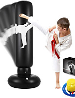 cheap -Famiry Punching Bag for Kids, 63 Inch Freestanding Boxing Inflatable Punching Bag for Kids , Bounce Back for Practicing Karate, Taekwondo, MMA, Fitness Freestanding Boxing Bag (Air Pump Included)