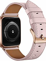 cheap -smartwatch band  leather strap compatible with apple watch strap 42mm 44mm, leather strap compatible with apple watch series 6 se 5 4 3 2 1 pink sand