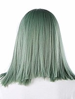 cheap -boquite fashionable wigs for women, blue green high temperature synthetic wigs, straight women wigs fake hair for cosplay party