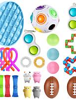 cheap -25 pcs  Fidget Sensory Toy Set Stress Relief Toys Autism Anxiety Relief Stress Pop Bubble Fidget Toys For Kids Adults