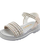cheap -Girls' Sandals Dress Shoes Comfort Flower Girl Shoes Leather Little Kids(4-7ys) Big Kids(7years +) Flower Event / Party Daily Pearl Sequin Pink Silver Fall Summer / Party & Evening