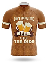 cheap -21Grams Men's Short Sleeve Cycling Jersey Summer Spandex Polyester Brown Bike Jersey Top Mountain Bike MTB Road Bike Cycling Quick Dry Moisture Wicking Breathable Sports Clothing Apparel / Athleisure