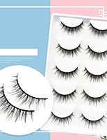 cheap -Five Pairs Of False Eyelashes 3DT12 Natural Fresh Nude Makeup Eyelashes Japanese Style Soft And Long False Eyelashes