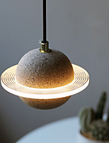 cheap -LED Pendant Light Bedside Lamp Planet Design 18 cm Lantern Desgin Home Decoration 110-120V 220-240V