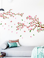 cheap -Wall Sticker Bough Peach Blossom Scenery Can Be Removed Personality Wall TV Children's Room Background