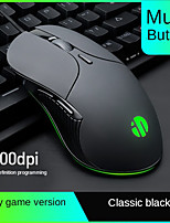 cheap -Luminous mouse 6 button 4800DPI adjustment Wired Optical Computer Mice USB Cable Silent Computer gaming mouse for laptop PC