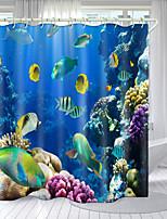 cheap -The Underwater World Digital Printing Shower Curtain Shower Curtains  Hooks Modern Polyester New Design