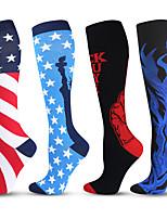 cheap -Long Tube Compression Socks Professional Marathon Running Socks Amazon Calf Protection High Elastic Compression Socks