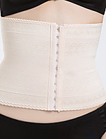 cheap -Women's Hook & Eye Underbust Corset / Overbust Corset - Textured / Plain / Stitching Lace, Check Pattern / Floral Style / Buckle Beige L XL XXL