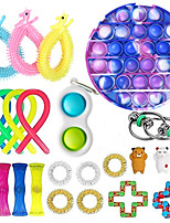 cheap -24 pcs Fidget Toys Anti Stress Toy Stretchy Strings Mesh Marble Relief Gift For Adults Children Sensory Antistress Relief Toys