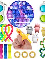 cheap -21 pcs Pop Fidget Toys Pluck Sensory Antistress Toy Pack it Kawaii Stress Relief Toy Kids Adults Squishy Push Bubble Anti Stress Toy