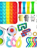cheap -27 pcs Fidget Sensory Toy Set Stress Relief Toys Autism Anxiety Pop Bubble Fidget Toys For Kids Adults