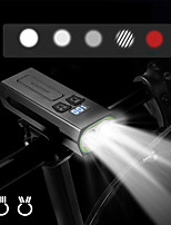cheap -LED Bike Light Front Bike Light LED Bicycle Cycling Waterproof Rotatable Super Bright USB Charging Output 18650 1800 lm Rechargeable Battery White Dual Light Source Color Camping / Hiking / Caving