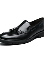 cheap -Men's Loafers & Slip-Ons Formal Shoes Penny Loafers Business Classic Party & Evening Office & Career PU Non-slipping Wear Proof Red Black Fall Spring