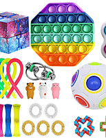 cheap -23pcs Fidget Toys Anti Stress Toy Stretchy Strings Mesh Marble Relief Gift For Adults Children Sensory Antistress Relief Toys