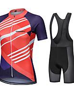 cheap -CAWANFLY Women's Short Sleeve Cycling Jersey with Bib Shorts Cycling Bib Shorts Summer Jacinth +Gray Bike Quick Dry Sports Mountain Bike MTB Road Bike Cycling Clothing Apparel