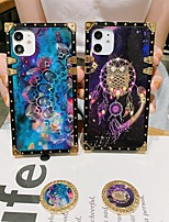 cheap -Phone Case For Apple Back Cover iPhone 12 Pro Max 11 SE 2020 X XR XS Max 8 7 Shockproof Dustproof Ring Holder Color Gradient Graphic TPU