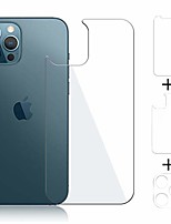 cheap -Phone Screen Protector For Apple iPhone 12 iPhone 11 iPhone 12 Pro Max iPhone 11 Pro iPhone 11 Pro Max Tempered Glass 3 pcs High Definition (HD) Ultra Thin Scratch Proof Front & Back & Camera Lens