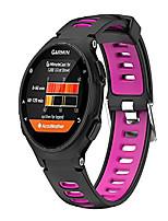 cheap -Smart watch band replacement garmin forerunner 735xt,630,620,235,230,220 strap bands,silicone watch band compatible for garmin forerunner 735xt,630,620,235,230,220. (black + rose red)