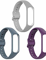 cheap -Smart watch band compatible with samsung galaxy fit 2 bands,soft silicone wrist bands watchband straps replacement for galaxy fit 2 sm-r220,light gray&dark gray&purple