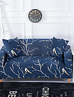 cheap -Blue Branch Print Dustproof All-powerful Slipcovers Stretch Sofa Cover Super Soft Fabric Couch Cover with One Free Boster Case(Chair/Love Seat/3 Seats/4 Seats)