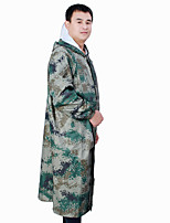 cheap -Women's Men's Rain Poncho Hiking Raincoat Rain Jacket Autumn / Fall Winter Spring Summer Outdoor Waterproof Quick Dry Lightweight Breathable Poncho Top Hunting Fishing Climbing Navy (single layer and