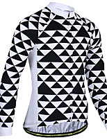 cheap -21Grams Men's Short Sleeve Cycling Jersey Summer Spandex Polyester Black+White Bike Jersey Top Mountain Bike MTB Road Bike Cycling Quick Dry Moisture Wicking Breathable Sports Clothing Apparel