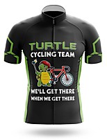 cheap -21Grams Men's Short Sleeve Cycling Jersey Summer Spandex Polyester Black Sloth Bike Jersey Top Mountain Bike MTB Road Bike Cycling Quick Dry Moisture Wicking Breathable Sports Clothing Apparel
