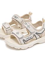 cheap -Girls' Sandals Comfort Cowhide Little Kids(4-7ys) Big Kids(7years +) Daily Pink Beige Summer