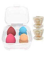 cheap -makeup sponge blender set, makeup sponge holder, beauty cosmetic foundation blending applicator puff for liquid foundation cream and powde (multi color)4+2…