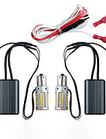 cheap -YoBis Car Led Daytime Running Lights Integrated Two-color Turn Signal Daytime Running Light 69smd With Decoding Dual Mode