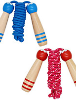 cheap -2PCS Jump Rope for Kids with Wooden Handle, Adjustable Fitness Skipping Rope for Kids Children Girls Boys Adults for Fun, Activity, Training