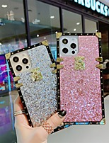 cheap -Phone Case For Apple Back Cover iPhone 12 Pro Max 11 SE 2020 X XR XS Max 8 7 Shockproof Dustproof Solid Colored Glitter Shine TPU