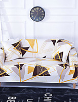 cheap -Golden Stripes Print Dustproof All-powerful Slipcovers Stretch Sofa Cover Super Soft Fabric Couch Cover with One Free Boster Case(Chair/Love Seat/3 Seats/4 Seats)