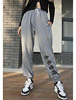 cheap -Women's Soft Comfort Breathable Outdoor Yoga Home Pants Leggings Pants Leopard Full Length Sporty Elastic Waist Grey