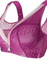 cheap -Women's Push-up Full Coverage Bras & Bralettes Lace Solid Color Black Red Fuchsia