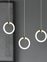 cheap -LED Pendant Light Circle Ring Design Copper Modern Nordic Metal Lights Living Room Bedroom Kitchen Dining Room Light Ring Acrylic lampshade Natural White 39W 3120LM