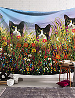 cheap -Wall Tapestry Art Decor Blanket Curtain Hanging Home Bedroom Living Room Decoration Polyester Cat