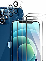 cheap -Phone Screen Protector For Apple iPhone 12 iPhone 11 iPhone 12 Pro Max iPhone 11 Pro iPhone 11 Pro Max Tempered Glass 6 pcs High Definition (HD) Scratch Proof Front & Camera Lens Protector Phone