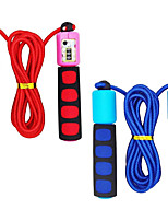cheap -Jump Rope for Kid's, Adjustable Automatic Counting Jump Ropes, Kids Fitness Equipment with Foam Handles for Kids, Children, Students Training and Weight Loss (2 Pack)