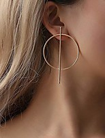 cheap -yienate boho earrings with exaggerated punk big circle geometric fashion ear stud for women and girls (gold)